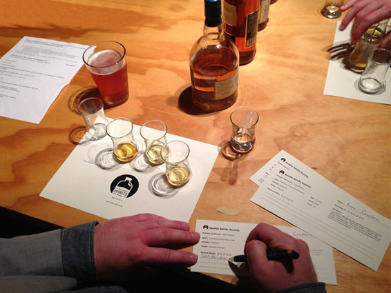 A Seattle Spirits Society Tasting Meeting
